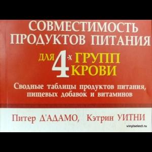 Кэтрин Уитни, Питер Д Адамо - Совместимость Продуктов Питания Для 4-х Групп Крови