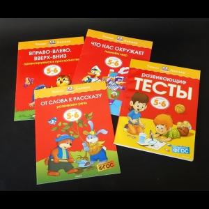 Земцова О.Н. - Развивающие тексты для детей 5-6 лет (Комплект из 4 книг)