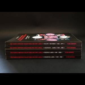 Гришин Юрий  - The famous British collectable record labels. Island, Harvest, Charisma, Vertigo (комплект из 4 книг)