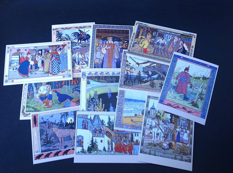 Русские народные сказки набор открыток